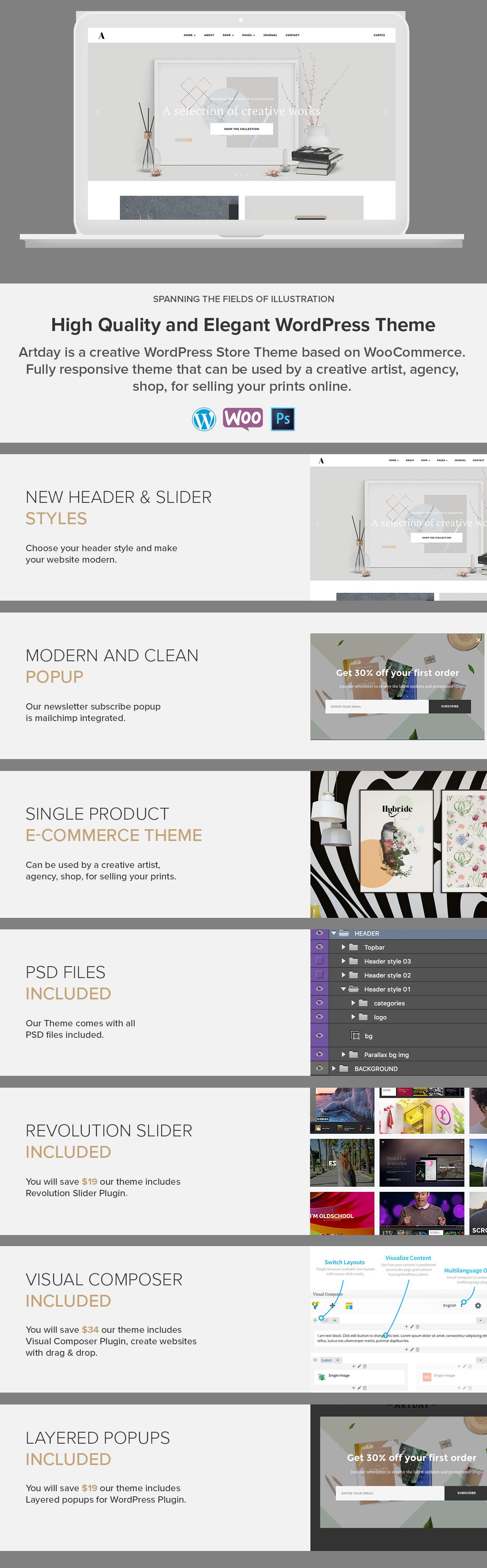 Artday - Creative Artist WordPress Shop Download